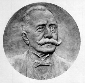 Cesare Arzelà - A relief portraying Cesare Arzelà at the Mathematics Department of Bologna University
