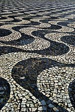 Opened in 1900, the Portuguese-style stone pavement of the square.