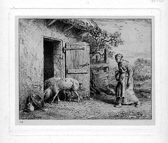 Charles Jacque - Etching (1848)