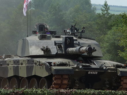 Close up view of a Challenger 2
