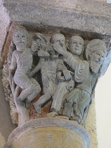 File:Chapiteau de St-Nectaire - Le Christ et Zachée.jpg