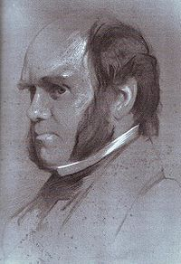 Charles Darwin drawing by Samuel Laurence, 1853, alternative.jpg