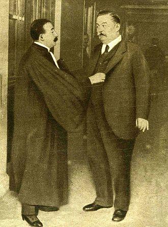 Bolo Pasha - Senator Charles Humbert (right) and his lawyer Me Moro-Giafferi during the trial.