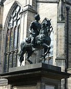 Charles II statue. Parliament Square Edinburgh