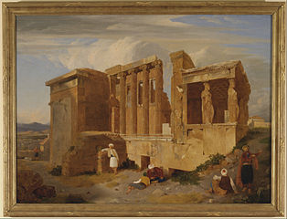 The Erechtheum, Athens, with Figures in the Foreground
