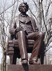 Statue by Anne Whitney in Harvard Square