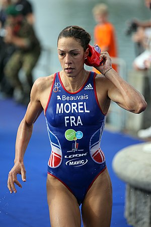 Charlotte Morel - Morel, eighth after the swim at the Military World Championship, 2012.