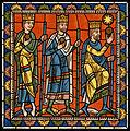 Chartres VITRAIL DE LA VIE DE JÉSUS-CHRIST Motiv 07 Les Mages en route vers Bethléem; l'étoile apparaît.jpg