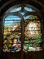 Chaumont-en-Vexin (60), église Saint-Jean-Baptiste, verrière n° 102 - Apparition de la Vierge à Bernadette Soubirous.JPG