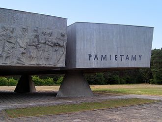 Chełmno extermination camp - Image: Chełmno pomnik