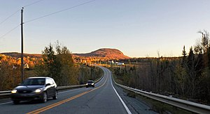 Quebec Route 220 - Route 220 at Orford