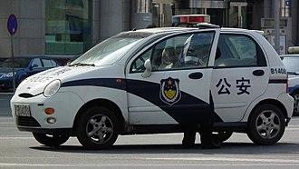 Chery QQ3 - Chery QQ policecar in Dalian, Liaoning