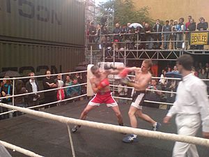 Photo of the boxing portion of a Chess-Boxing ...