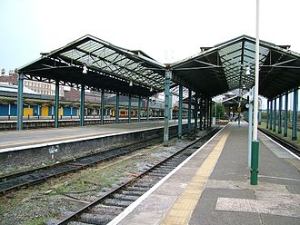 Chester General rail crash - Chester Station seen in 2005, showing the section of roof that was not replaced