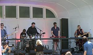 The Chills - The Chills performing at a free concert in Dunedin Botanic Gardens, January 2013