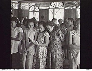 Malaysian Chinese - Chinese women in North Borneo, 1945.