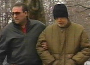 Vincent Gigante - FBI surveillance photo of Gigante (right) strolling through Greenwich Village, being led by his close associate and bodyguard Dominick Canterino.
