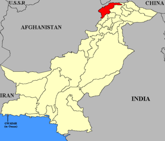 Chitral (princely state) - Map of Pakistan with Chitral highlighted