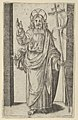 Christ, right hand raised in the gesture of blessing, from the series 'Piccoli Santi' (Small Saints) MET DP853476.jpg