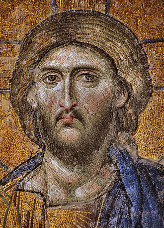 False equivalence - Image: Christ Pantocrator mosaic from Hagia Sophia 2240 x 3109 pixels 2.5 MB