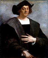 لوحة فنية لكولومبوس