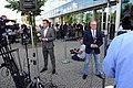 Christopher Wittich und Michael Wüllenweber vor dem Konrad-Adenauer-Haus, 2018.JPG