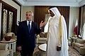 Chuck Hagel meets with Sheikh Tamim bin Hamad, Emir of Qatar, December 2013 (1).jpg