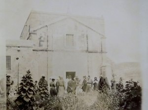 Church in Nazareth, built on supposed site of Joseph's workshop, 1891