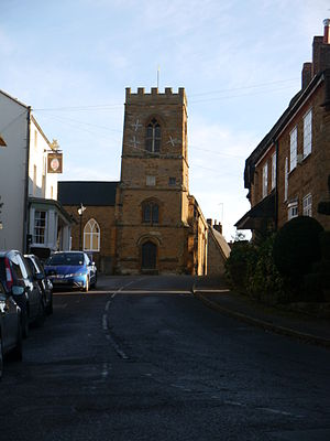 Boughton, Northamptonshire - Image: Church of St John the Baptist (tower), Boughton