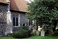 Church of St Mary and St Christopher, Panfield - chancel and churchyard.jpg