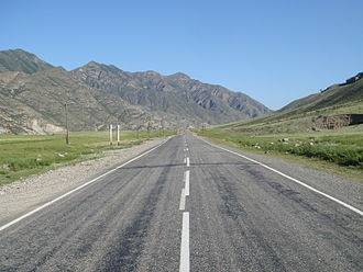 R256 highway (Russia) - The Russian route M52 in the Altay.
