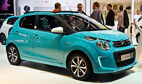 Citroën C1 PureTech 82 Airscape Feel Edition (II) – Frontansicht, 19. September 2015, Frankfurt.jpg