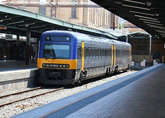 NSW TrainLink - Image: City Rail Endeavour Railcar at Central Railway Station