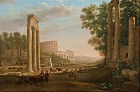 Claude Lorrain - Capriccio with ruins of the Roman Forum - Google Art Project.jpg