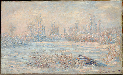 Claude Monet, Le Givre (1880, from C2RMF)