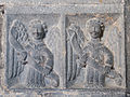 Clonfert Cathedral Chancel Arch Northern Pier Double Panel with Angels 2009 09 17.jpg