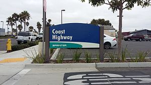 Coast Highway station - Coast Highway, SPRINTER sign
