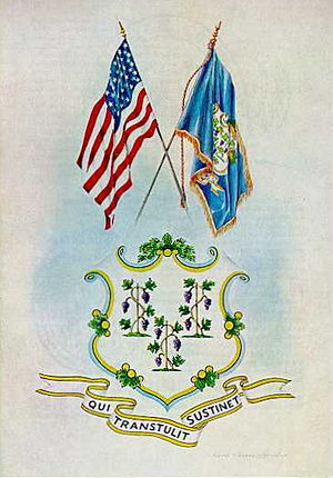 Connecticut Military Department - Image: Coat of Arms of the State of Connecticut