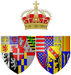 Coat of arms of Elisabeth Therese of Lorraine as Queen of Sardinia.png