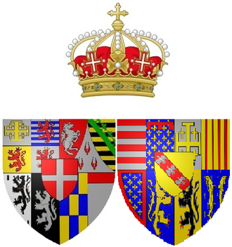 Elisabeth Therese of Lorraine - Arms as queen of Sardinia