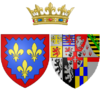 Coat of arms of Marie Josephine Louise of Savoy as Countess of Provence.png