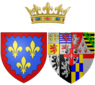 Coat of arms of Marie Joséphine Louise of Savoy as Countess of Provence.png