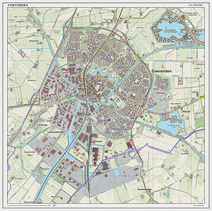 Coevorden - 2014 map of the city of Coevorden