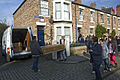 Coffin delivery, Town, Beamish Museum, 24 October 2011.jpg