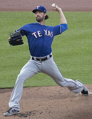 Cole Hamels - Hamels with the Texas Rangers in 2017