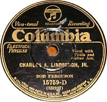 centre label from phonograph record