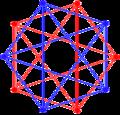 Compound dual 5-cells A5 coxeter plane.png