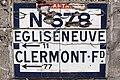 Condat - Plaque Michelin N678 vers Égliseneuve.jpg