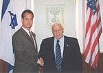 Congressman Mario Diaz-Balart with Prime Minister Ariel Sharon.jpg