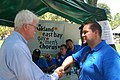 Congressman Miller greets the Oakland East Bay Gay Men's Chorus at the Rainbow Community Center's 5th Annual Pride on the Plaza (7369940506).jpg